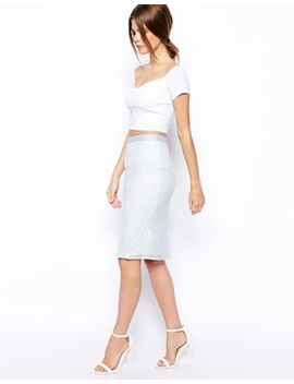 asos-pencil-skirt-in-lace by asos-collection