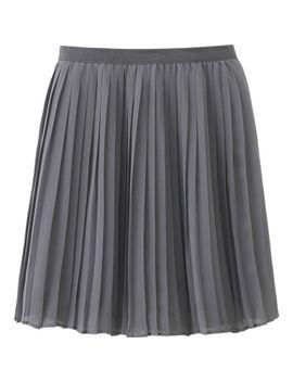 women-chiffon-pleated-mini-skirt by uniqlo