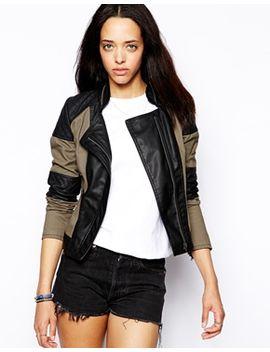 neon-rose-biker-jacket-with-lethaer-look-panels by jacket