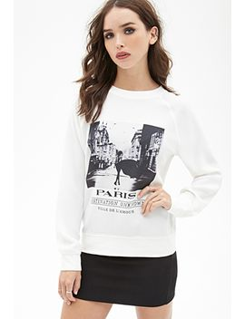 paris-graphic-crepe-sweatshirt by forever-21