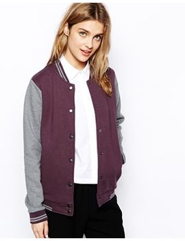 minimum-bomber-jacket-with-contrast-sleeves by jacket