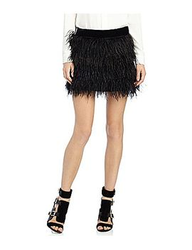 sam-edelman-feather-mini-skirt by generic