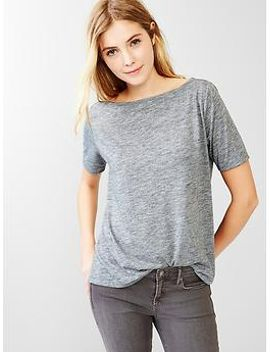 boatneck-a-line-tee by gap