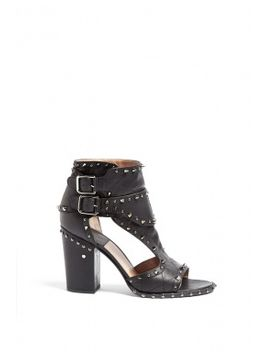 Deric Studded Black High Heel Sandal by Laurence Dacade