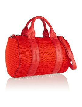 the-outnetrocco-leather-trimmed-mesh-tote by alexander-wang