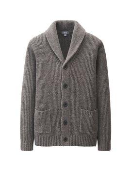 men-heavy-gauge-shawl-collar-cardigan by uniqlo