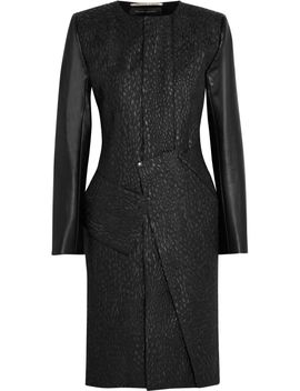 the-outnetoniciato-leather-trimmed-jacquard-coat by roland-mouret