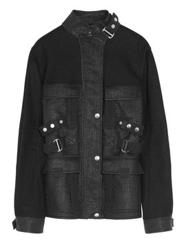 the-outnetraffia-effect-cotton-blend-coat by mcq-alexander-mcqueen
