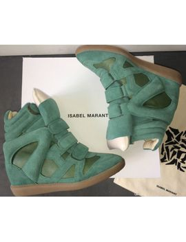 isabel-marant-burt-over-basket-*new*-leather-wedge-sneakers-sz-10-11-40-41--$800 by ebay-seller