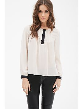 bow-front-pintucked-blouse by forever-21