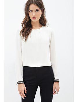 rhinestone-chiffon-blouse by forever-21