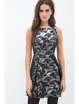 abstract-metallic-a-line-dress by forever-21