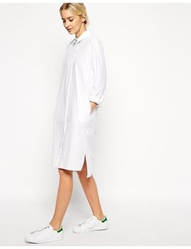 asos-white-cotton-shirt-dress by asos-white