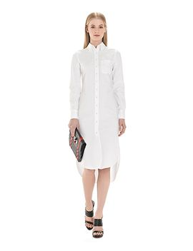 button-down-shirt-dress-with-mitered-cuffs by brooks-brothers