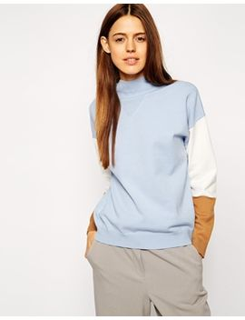 asos-structured-jumper-in-colourblock by asos-collection