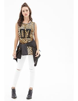 cheetah-print-graphic-jersey by forever-21