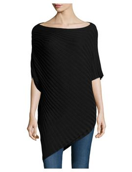 diagonal-rib-knit-sweater,-black by max-studio