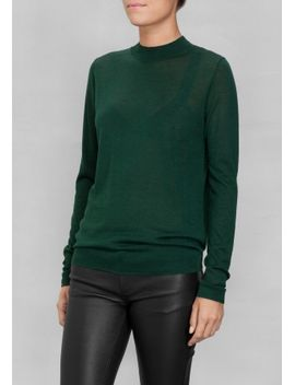 wool-mock-turtleneck by &-other-stories