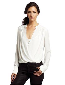 bcbgmaxazria-womens-jaklyn-draped-front-blouse by bcbgmaxazria