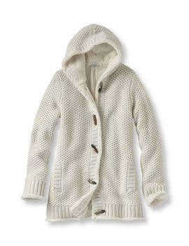 lined-honeycomb-hoodie by llbean