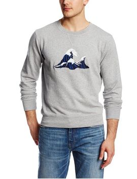 gant-rugger-mens-wave-embroidered-crew-sweater,-grey-melan,-small by gant-rugger