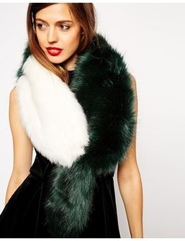 asos-faux-fur-racoon-tail-blocked-collar by asos-collection