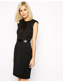 river-island-mesh-plunge-pencil-body-conscious-dress by river-island