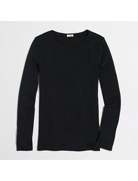 fine-rib-cotton-long-sleeve-t-shirt by jcrew