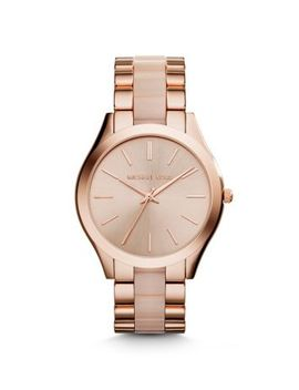 slim-runway-rose-gold-tone-acrylic-watch by michael-kors