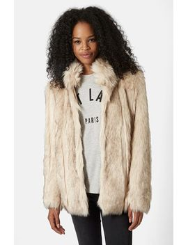leah-faux-fur-coat by topshop