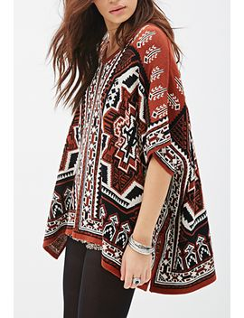 southwestern-patterned-poncho by forever-21