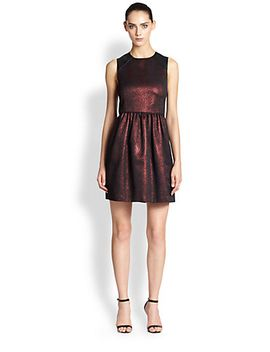 cobra-embossed-metallic-dress by 4collective