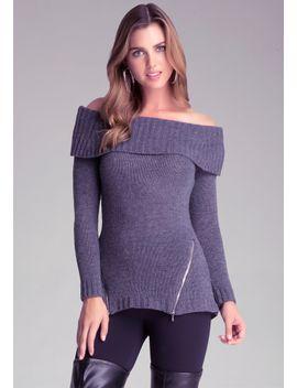marilyn-zip-detail-sweater by bebe