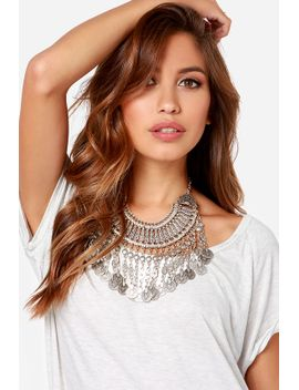 your-gypsy-silver-statement-necklace by lulus