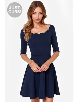 lulus-exclusive-tip-the-scallops-navy-blue-dress by lulus