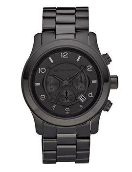 mens-runway-black-ion-plated-stainless-steel-bracelet-watch-45mm-mk8157 by michael-kors