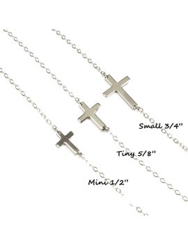 sideways-cross-necklace,-taylor-jacobson-horizontal-cross-sterling-and-gold-filled by gemsinvogue