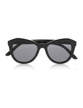 peach-pit-cat-eye-acetate-sunglasses by le-specs