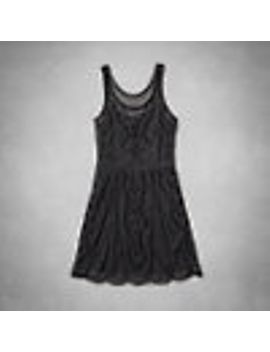 josey-beaded-skater-dress by abercrombie-&-fitch