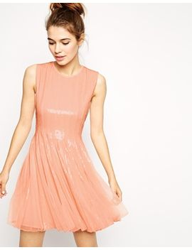 asos-mesh-and-sequin-skater-dress by asos-collection