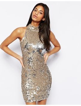 tfnc-sequin-dress-with-high-neck by tfnc