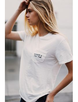 ieva-where-is-my-mind-embroidery-top by brandy-melville