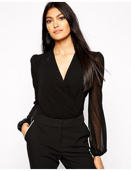 kardashian-kollection-at-lipsy-drape-front-long-sleeve-body by kardashian-kollection-at-lipsy