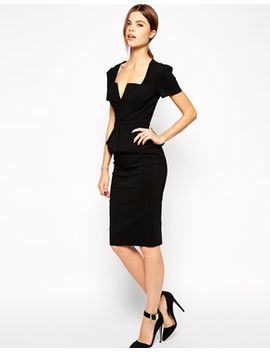 asos-sexy-pencil-dress-with-fold-origami-pleat by asos-collection