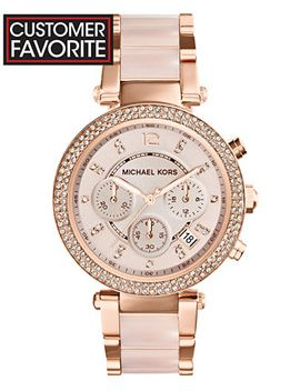 womens-chronograph-parker-blush-and-rose-gold-tone-stainless-steel-bracelet-watch-39mm-mk5896 by michael-kors