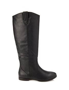 faux-leather-riding-boots by forever-21