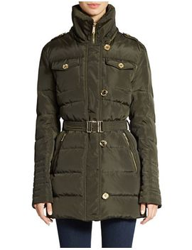 cinch-waist-quilted-coat by lord-and-taylor