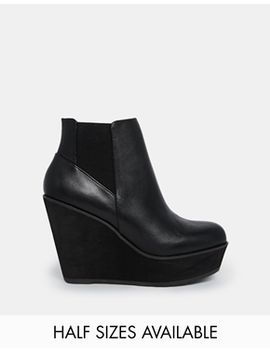 shellys-london-campalto-black-wedge-ankle-boots by shellys-london