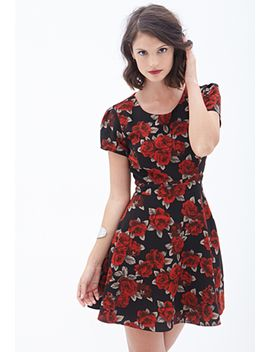rose-print-tea-dress by forever-21