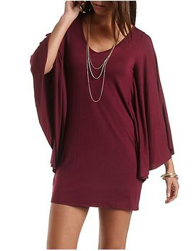 bell-sleeve-shift-dress by charlotte-russe